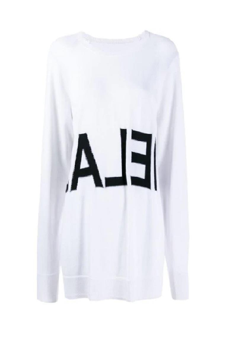 MM6 Women's Reverse Logo Sweater White