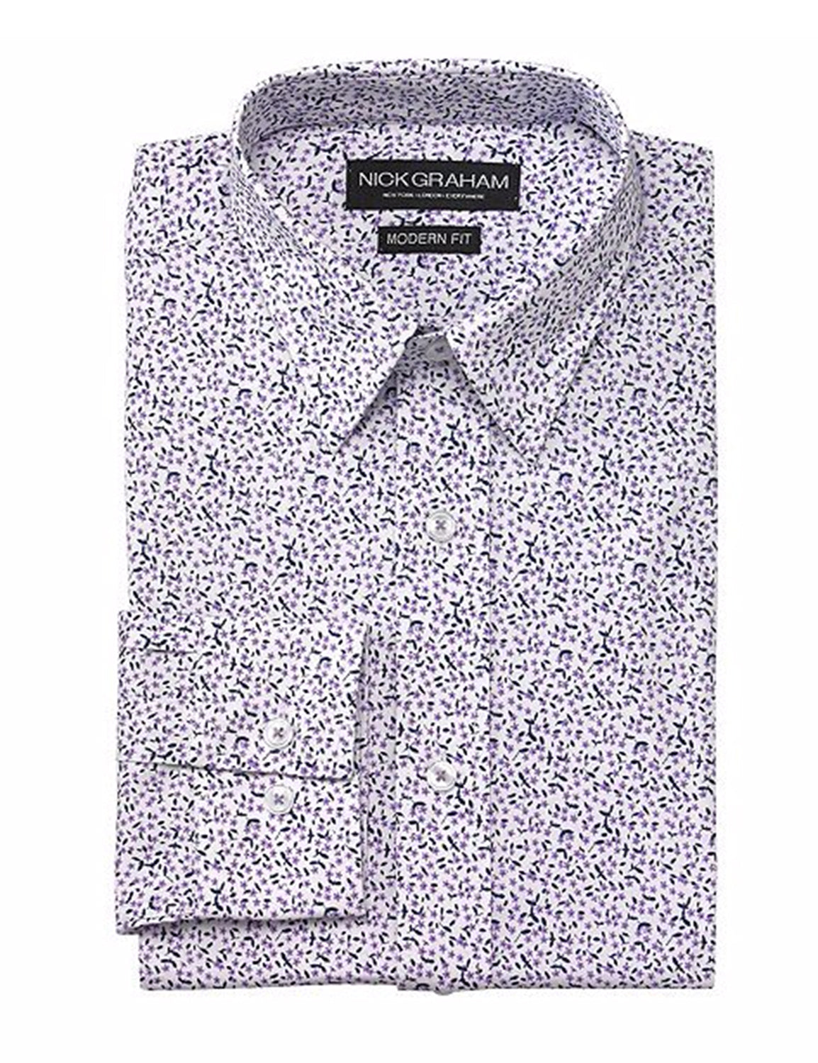 Skull Print Cotton Dress Shirt