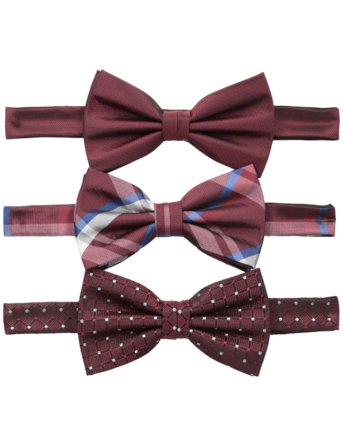 Three Bow Ties Gift Set Red One Size