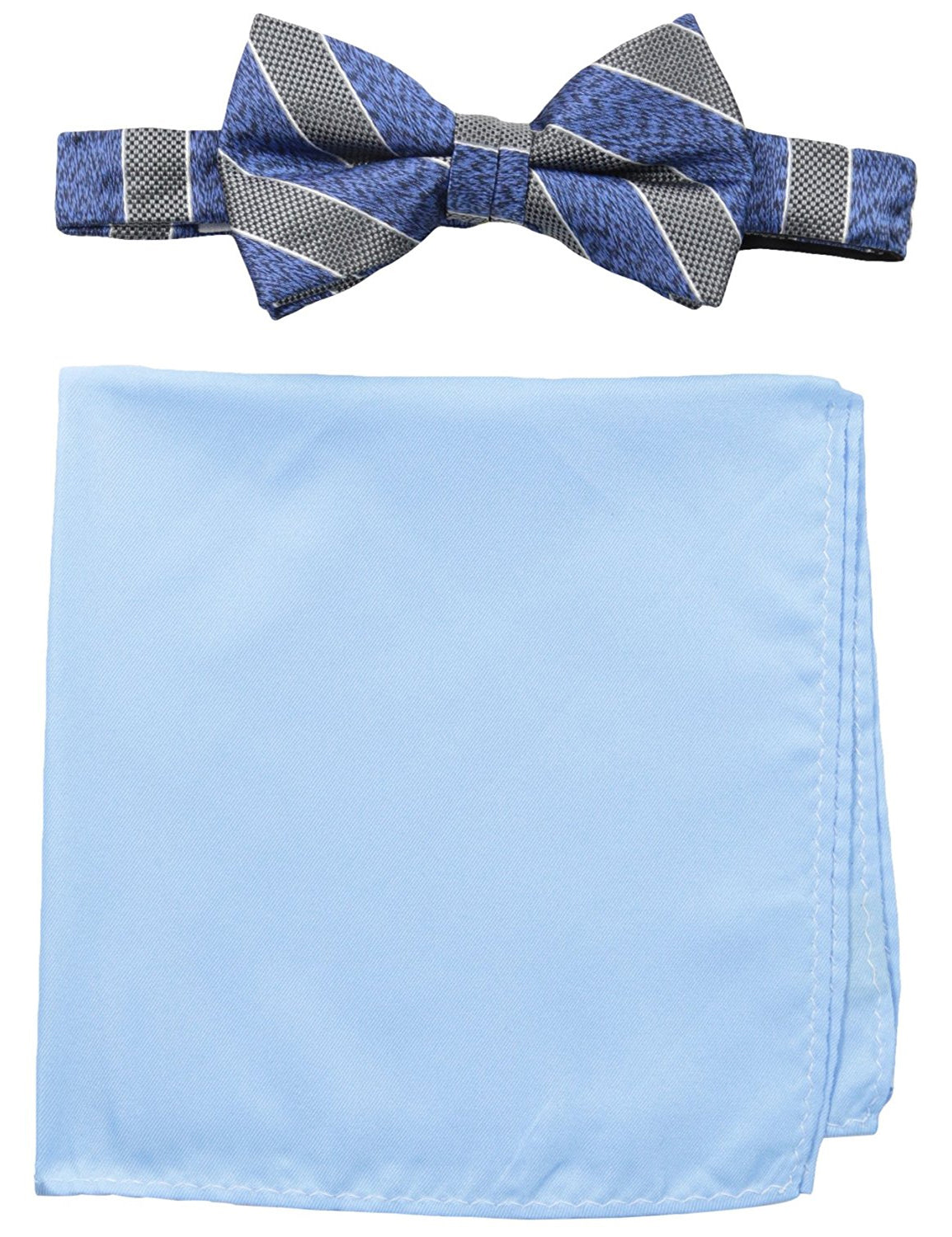 Stripe Bow Tie with Pocket Square
