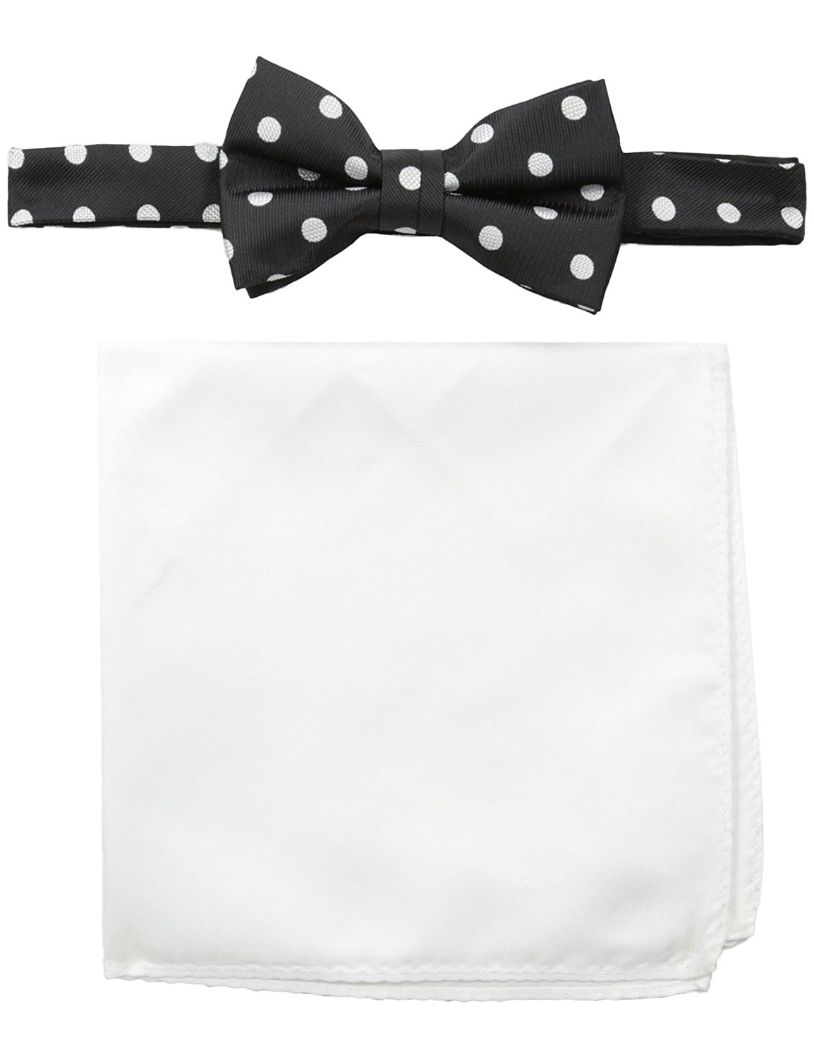 Solid Bow Tie with Pocket Square
