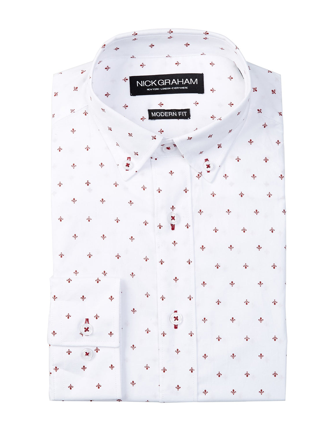 Nick Graham Fleur di Lis Dress Shirt