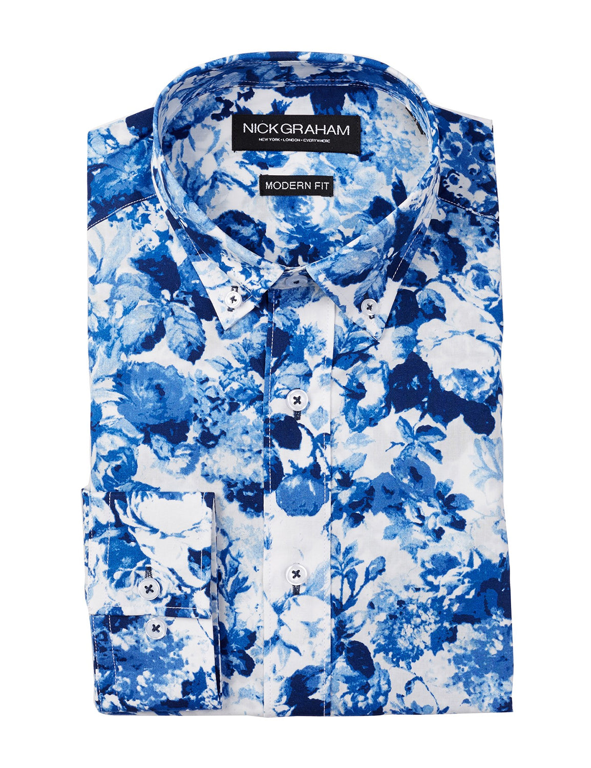 Floral Modern Fit Long Sleeve Dress Shirt