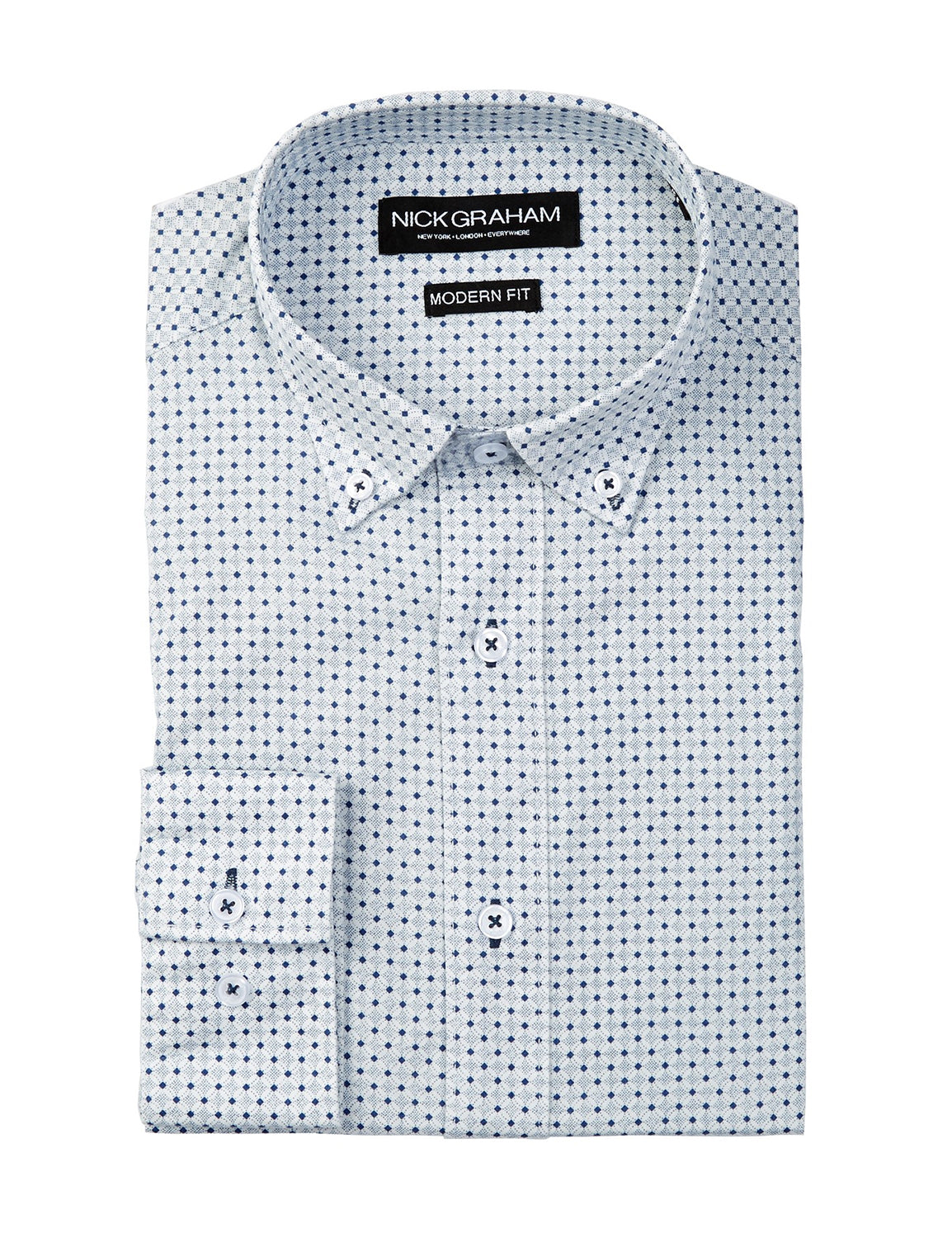 Print Modern Fit Dress Shirt