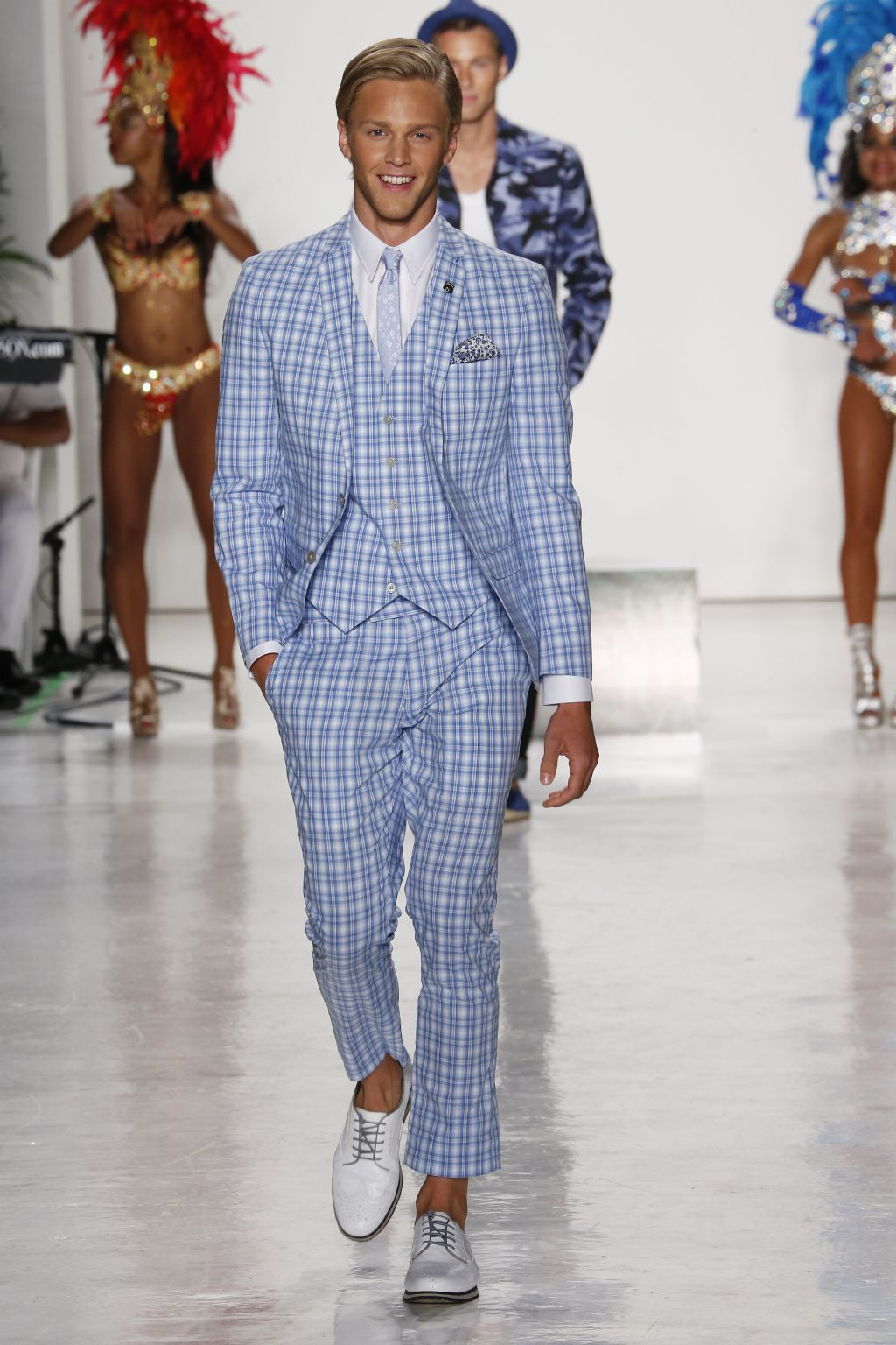male model clark bockelman walks nick graham runway