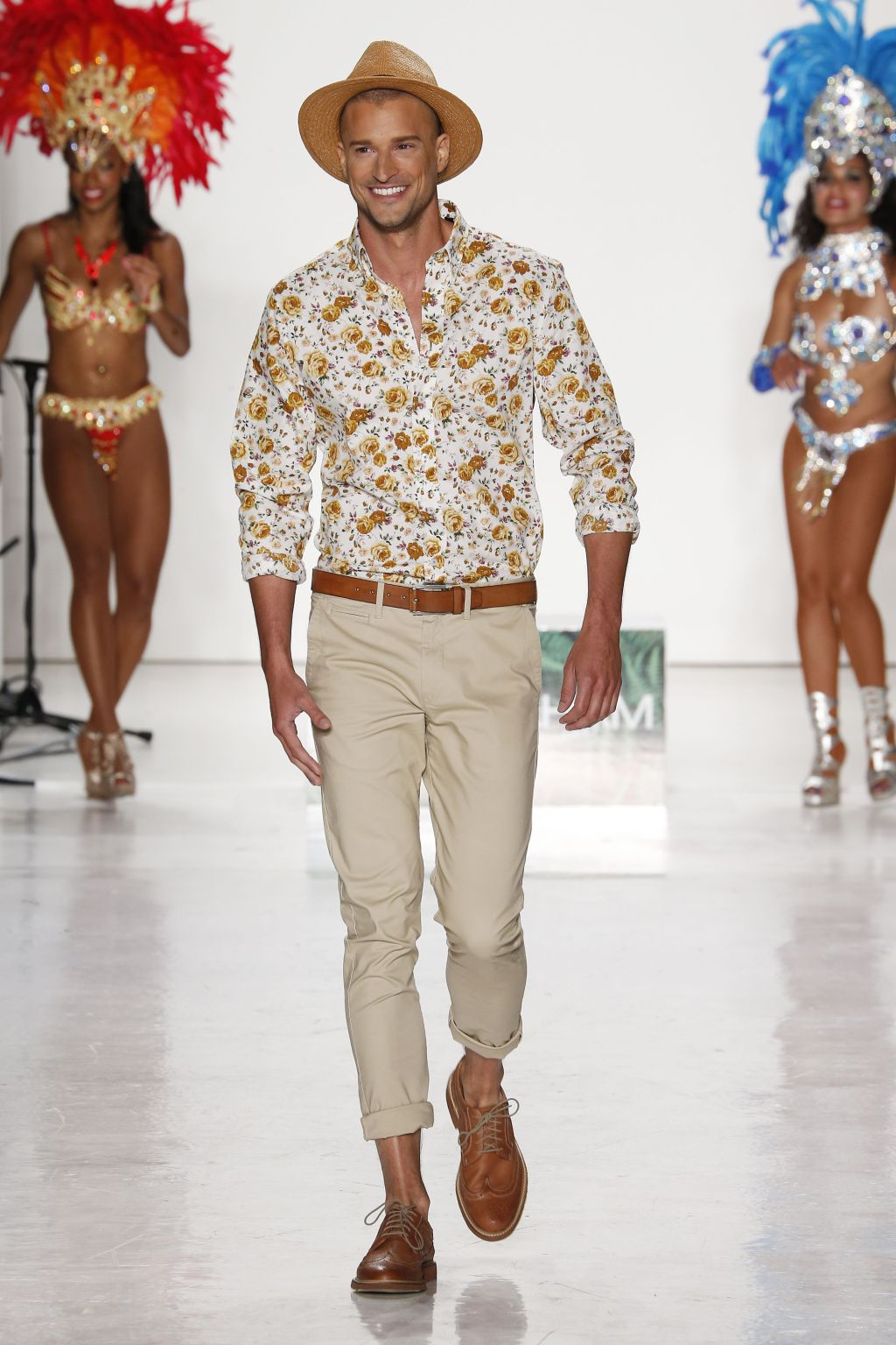 male model dennis hirdt walks nick graham runway