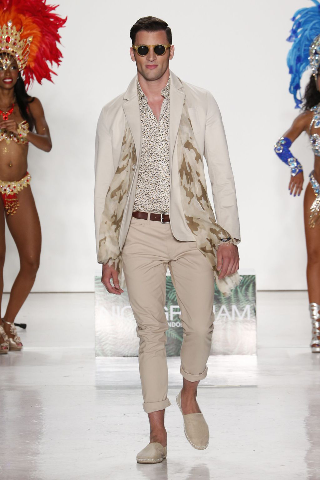 male model kevin sampaio walks nick graham runway