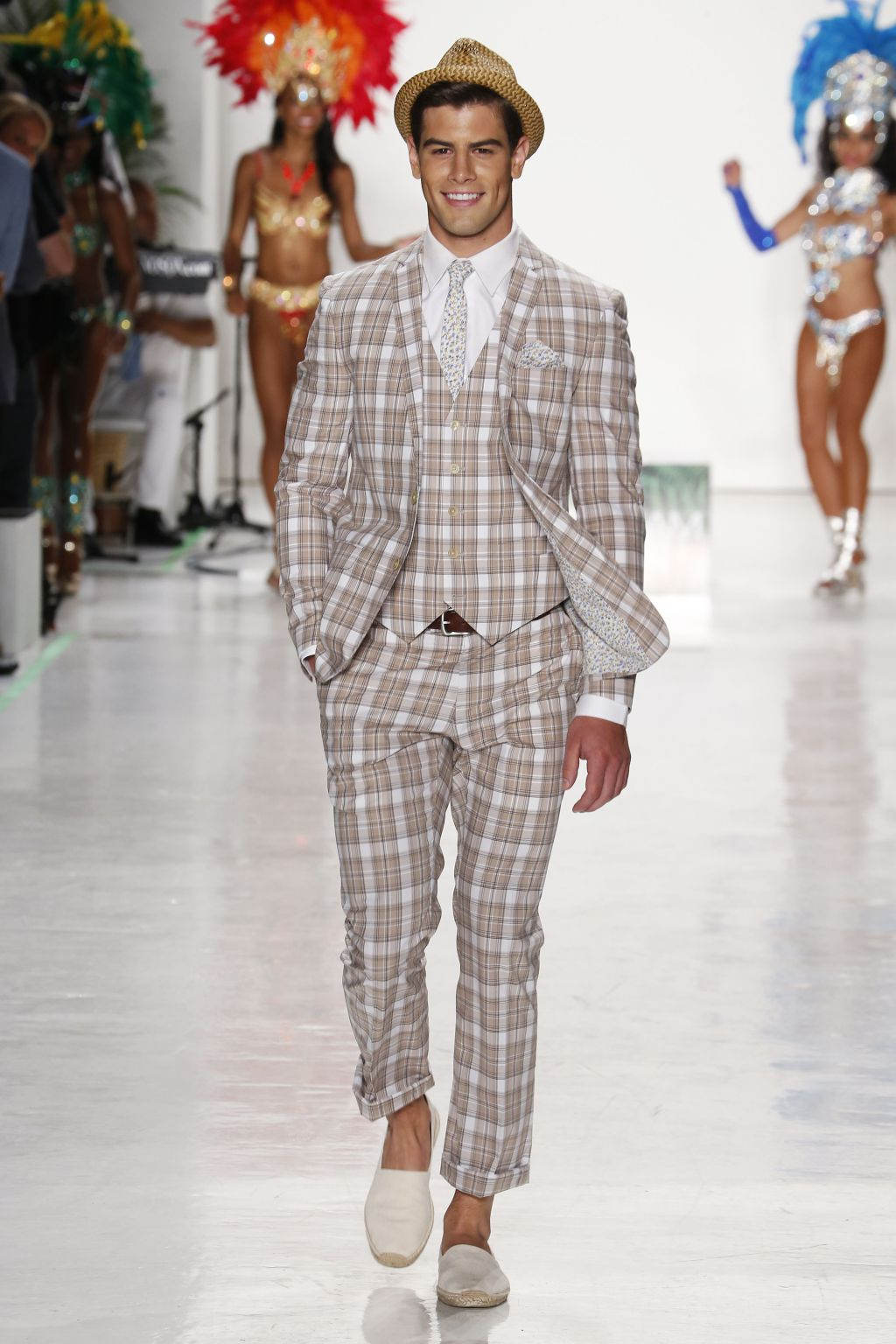 male model franky cammarata walks nick graham runway