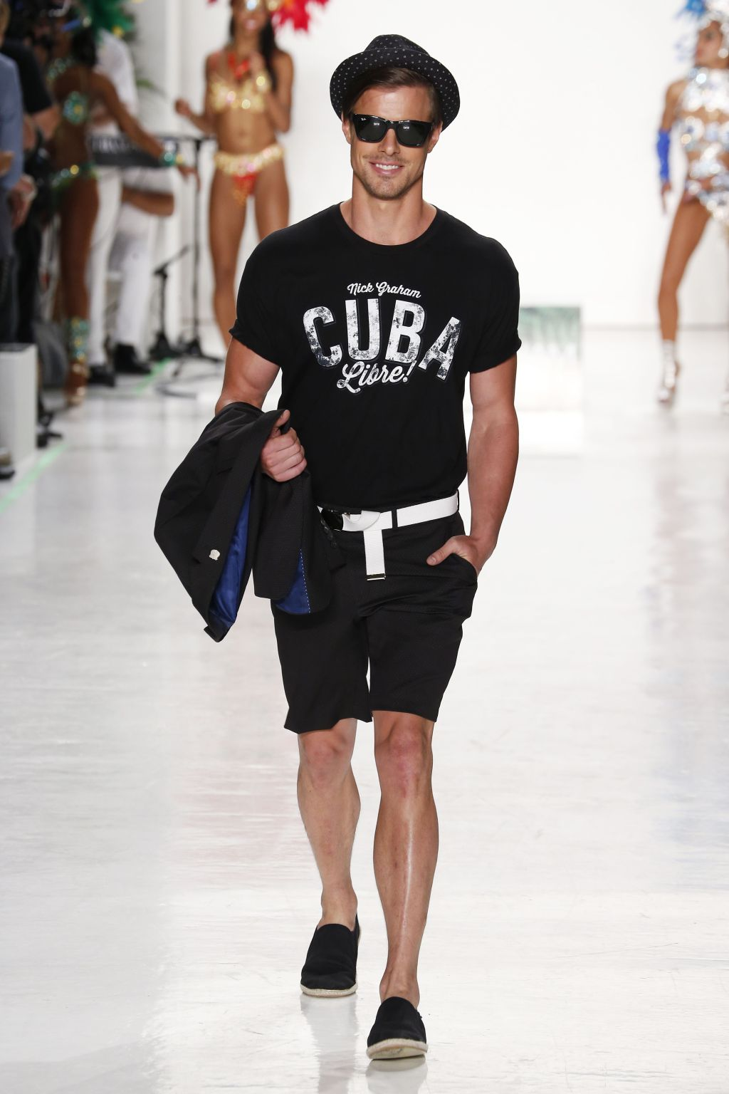 male model jules horn walks nick graham runway