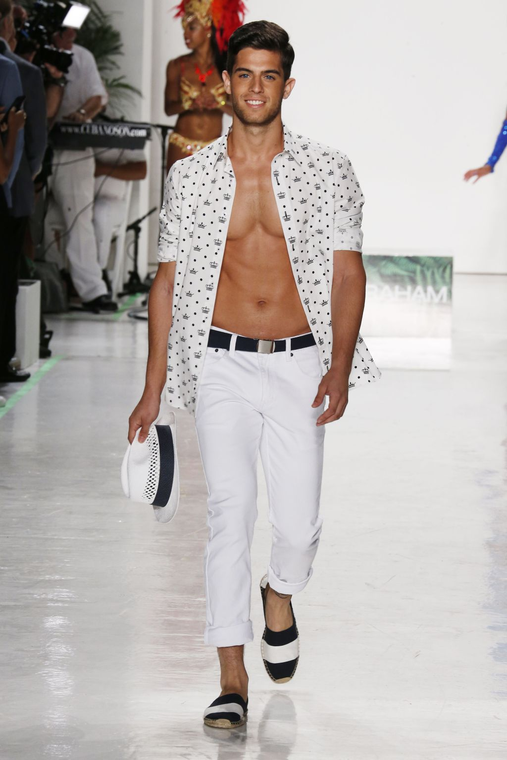 male model andre brunelli walks nick graham runway