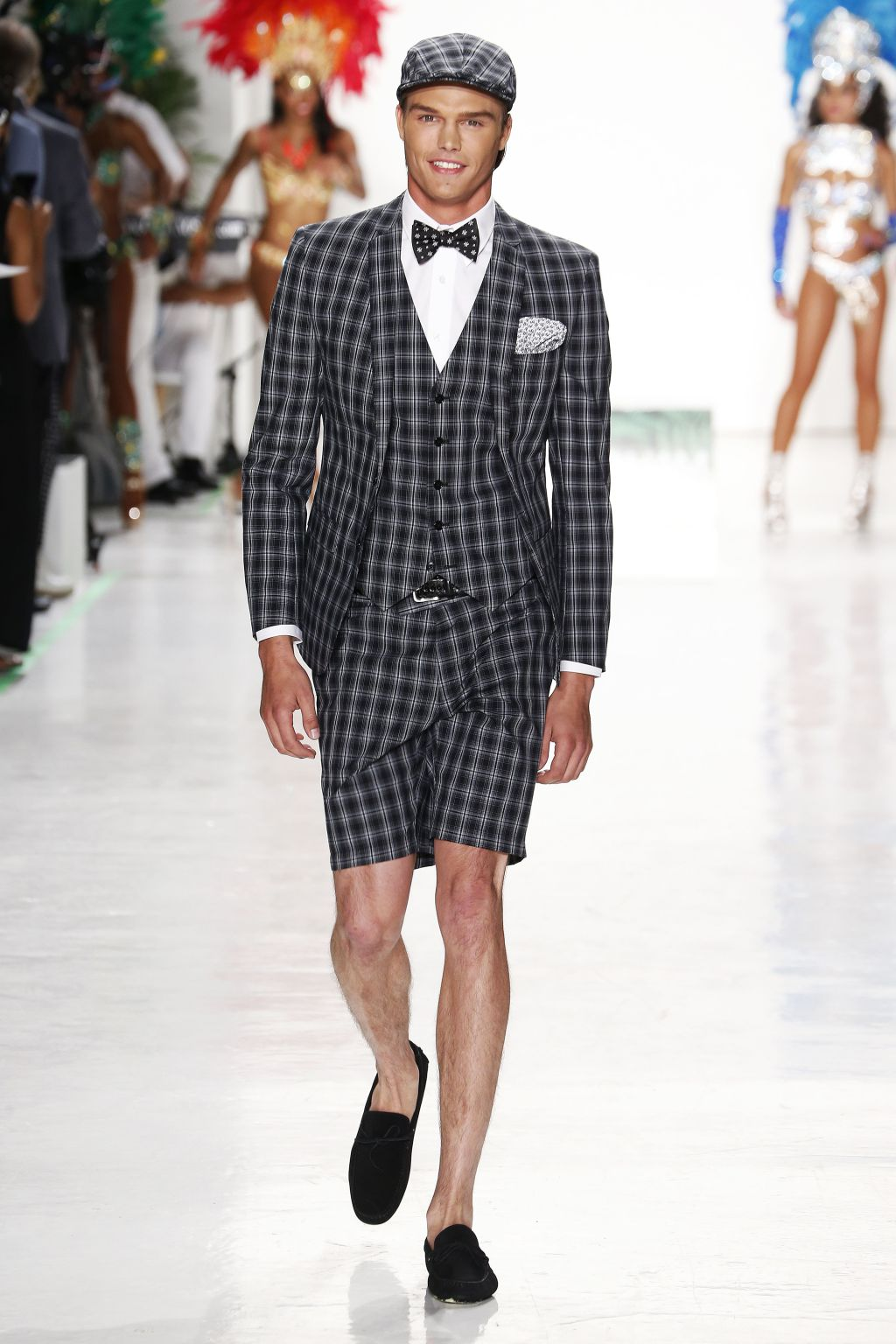 male model jesse gwin walks nick graham runway