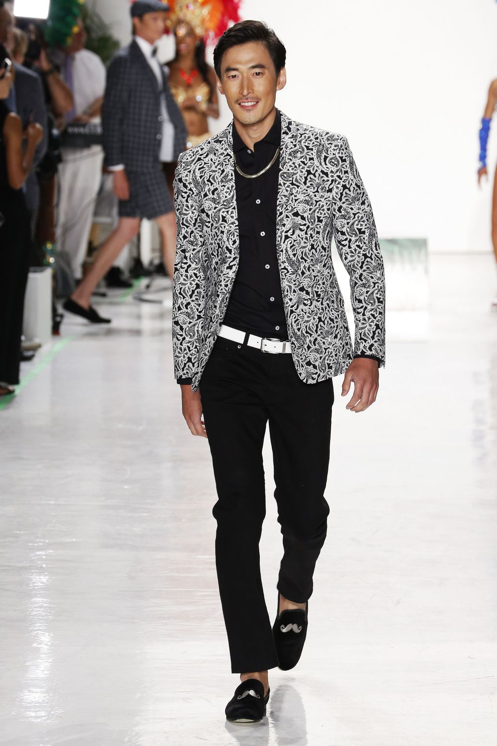 male model jino chun walks nick graham runway