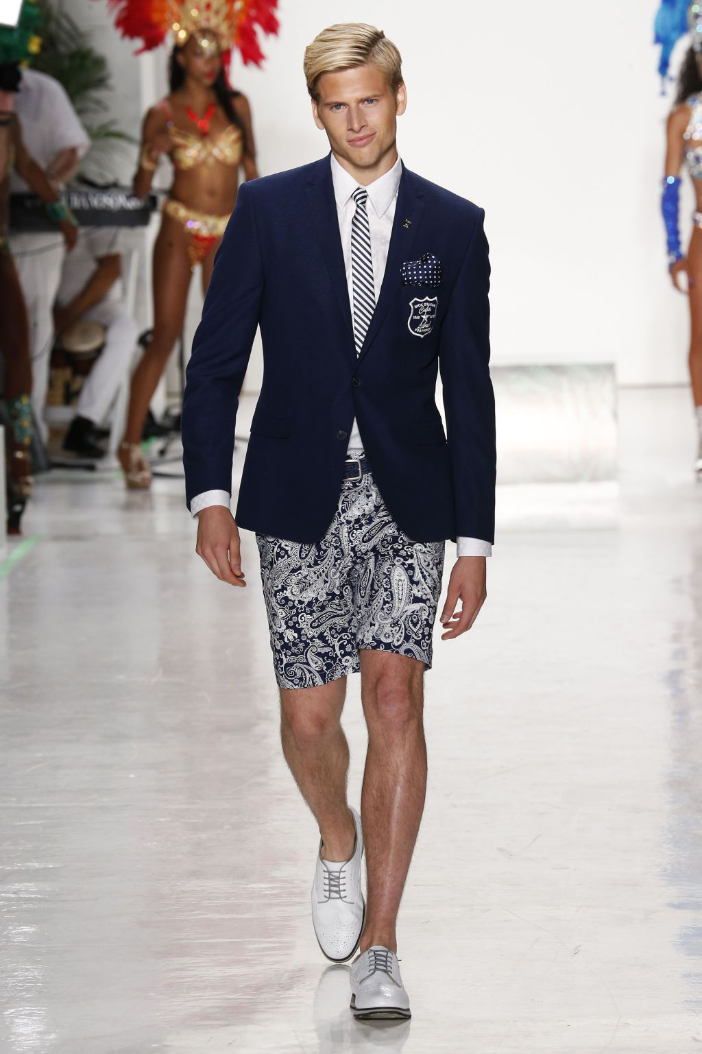 male model drew hanley walks nick graham runway