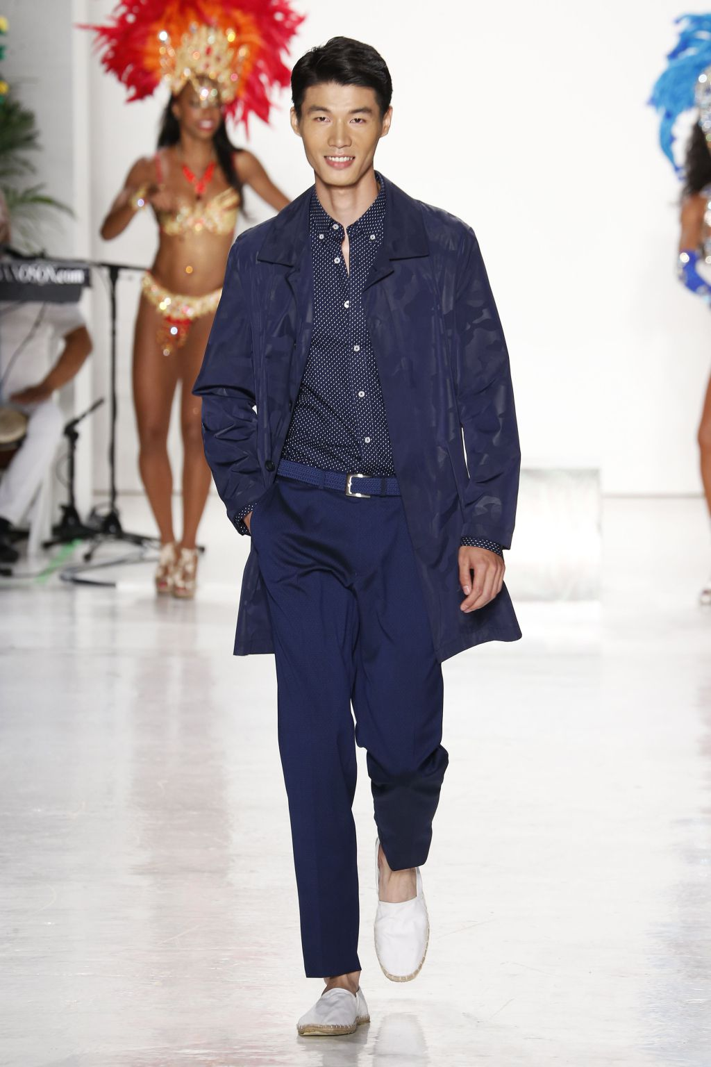 male model zhang chao walks nick graham runway