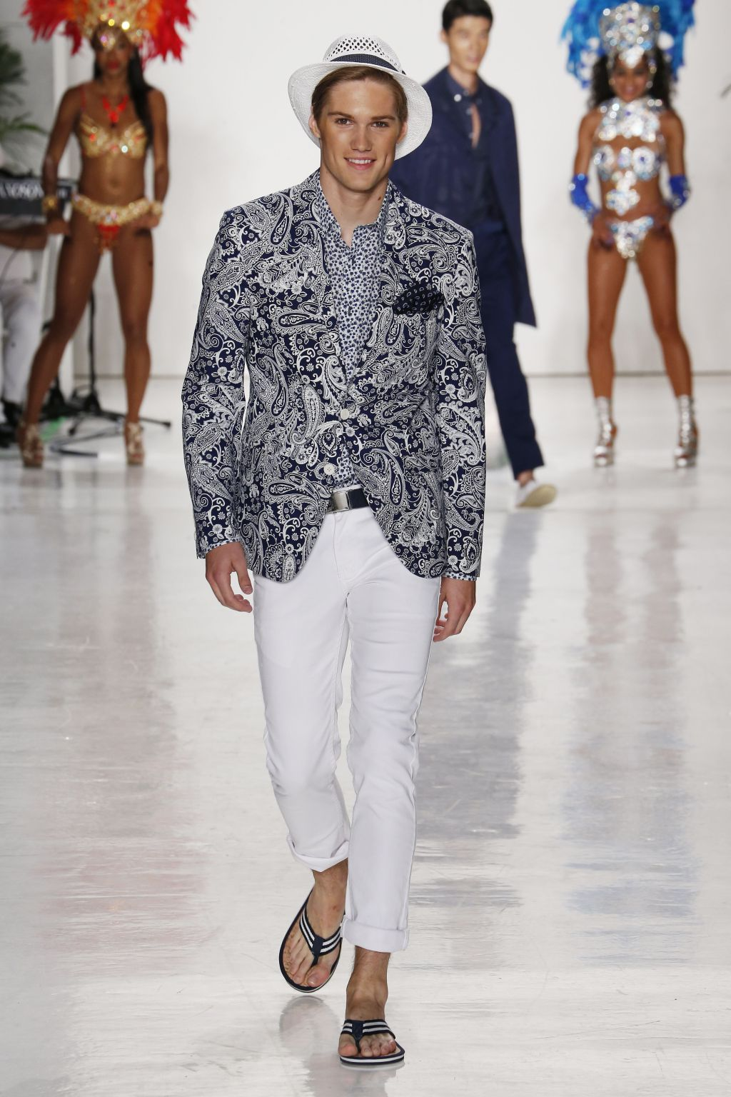 male model nick truelove walks nick graham runway