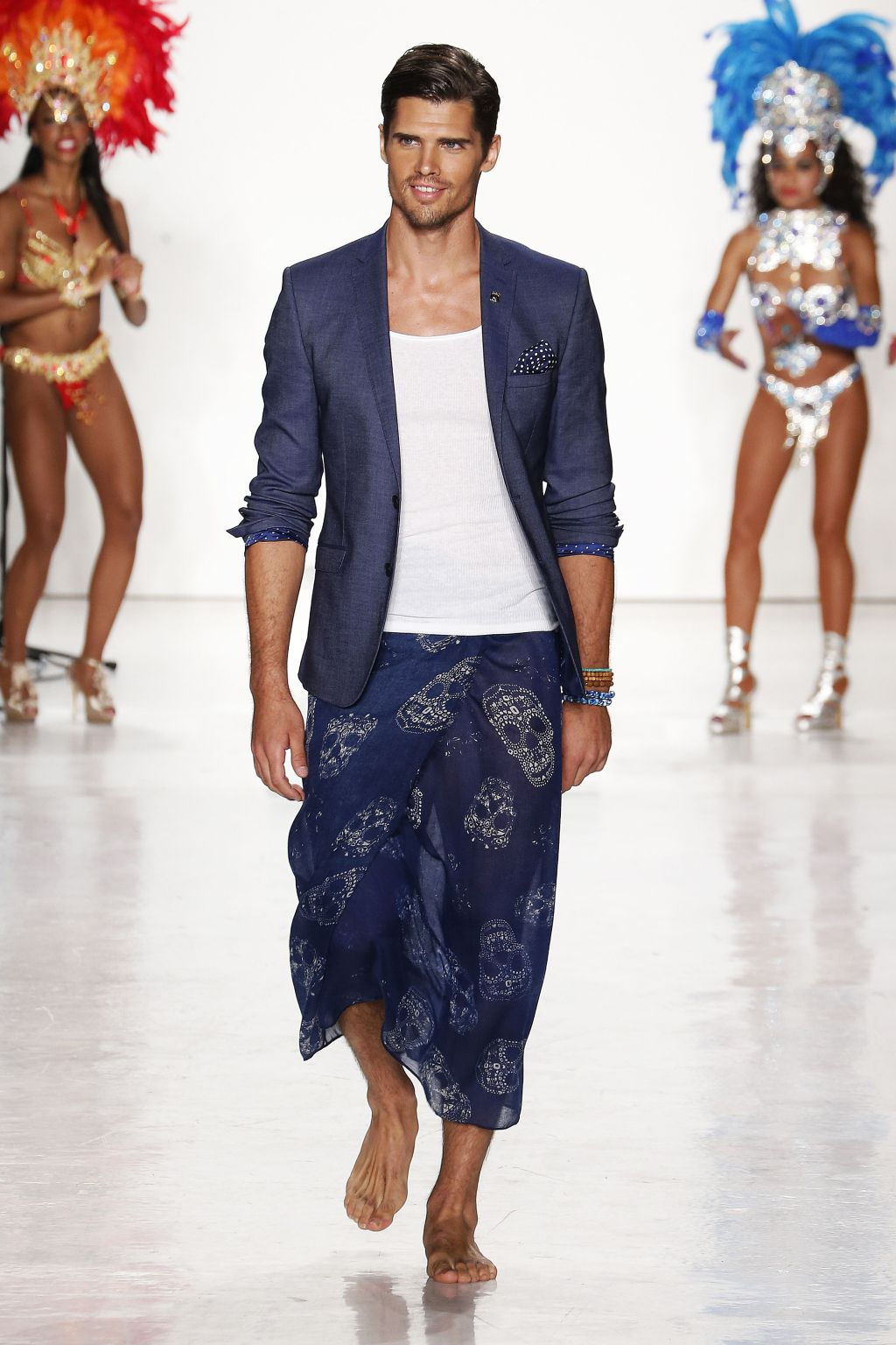 male model brian shimansky walks nick graham runway