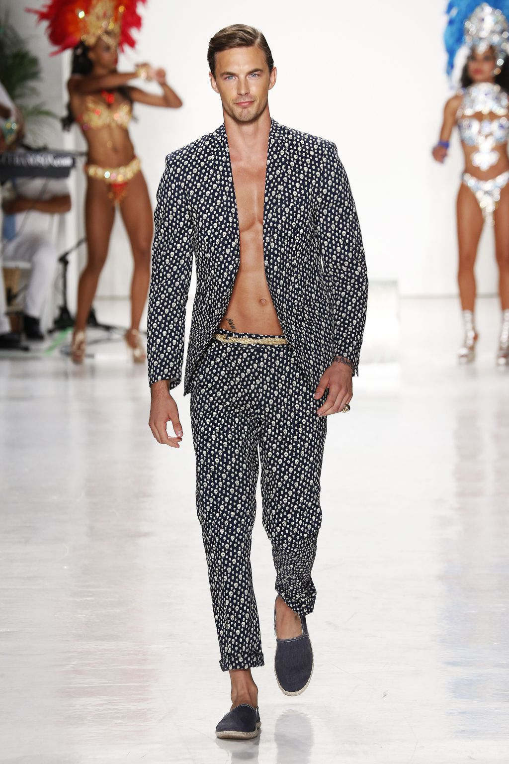 male model christian hogue walks nick graham runway