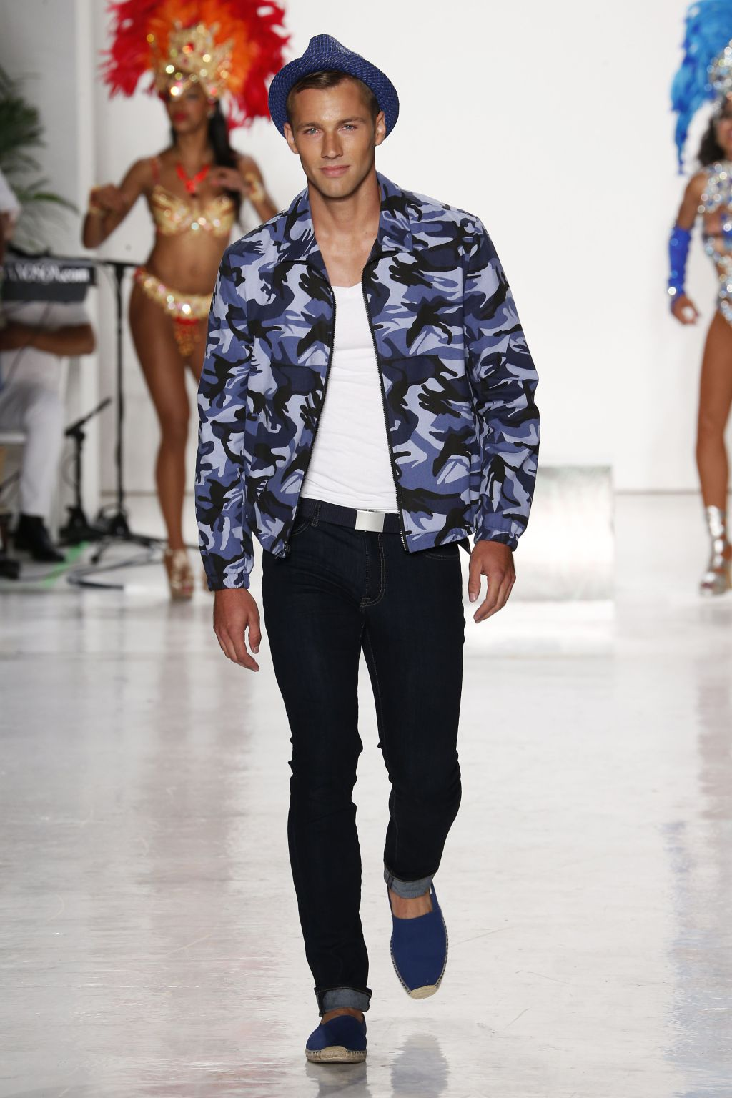 male model kacey carrig walks nick graham runway