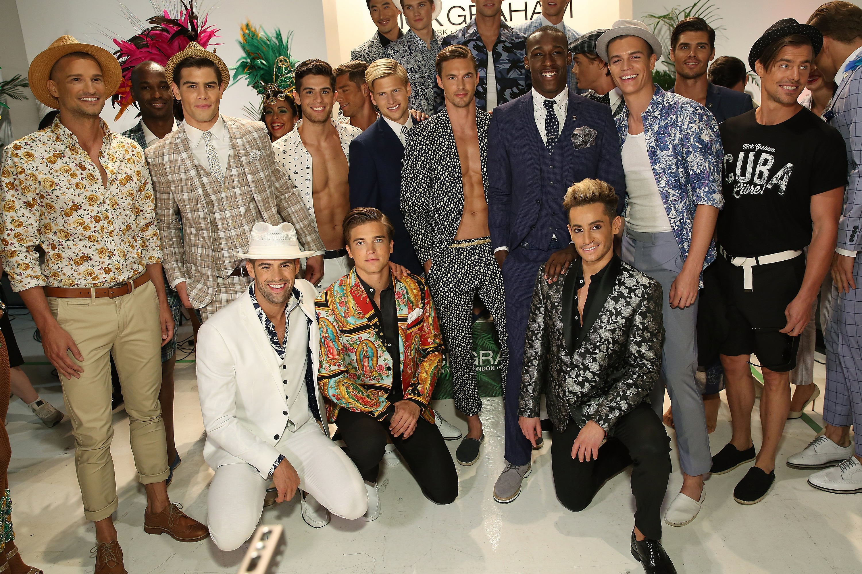 male models of nick graham spring summer 2017 collection