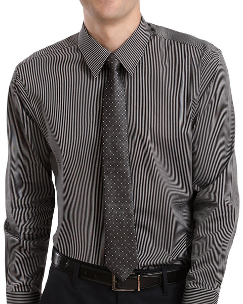 STRETCH SHIRT AND TIE SET