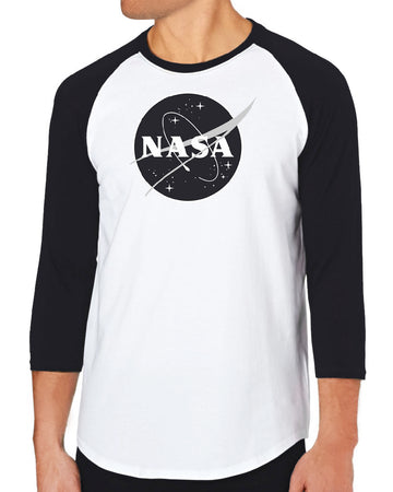 Nick Graham NASA Tees - Black & White - NASA Logo