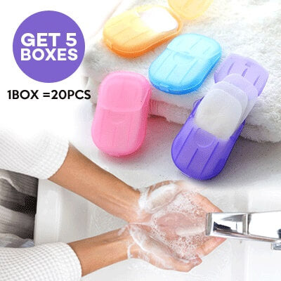 Portable Soluble Disinfectant Soap Paper