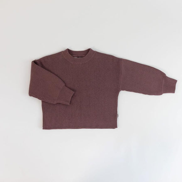 Rib Knit Sweater - Mulberry