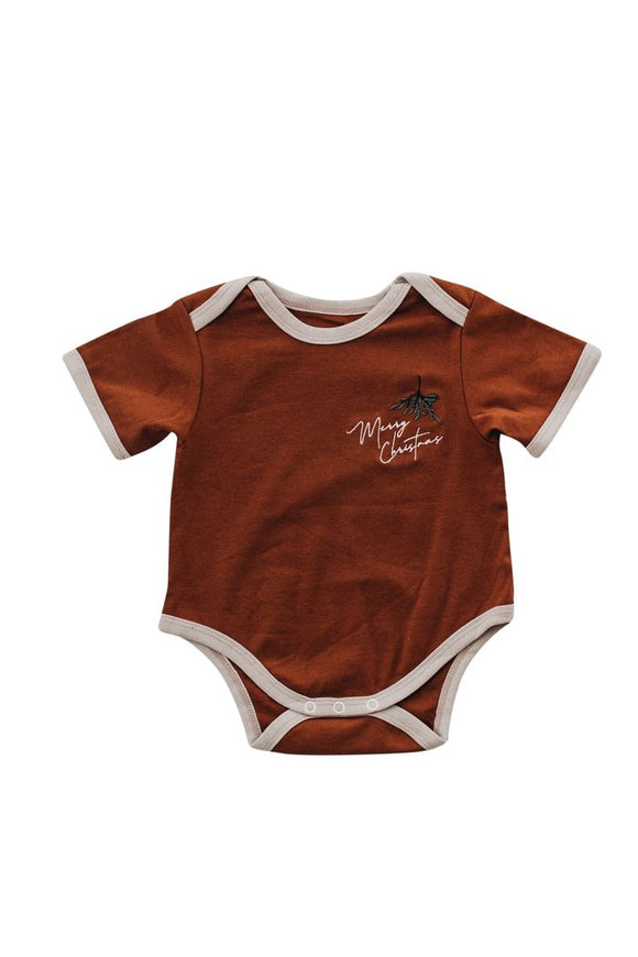Piper Bug Merry Christmas Romper