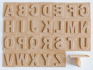 Eco Stamp - Letters Stamp (26 cards)