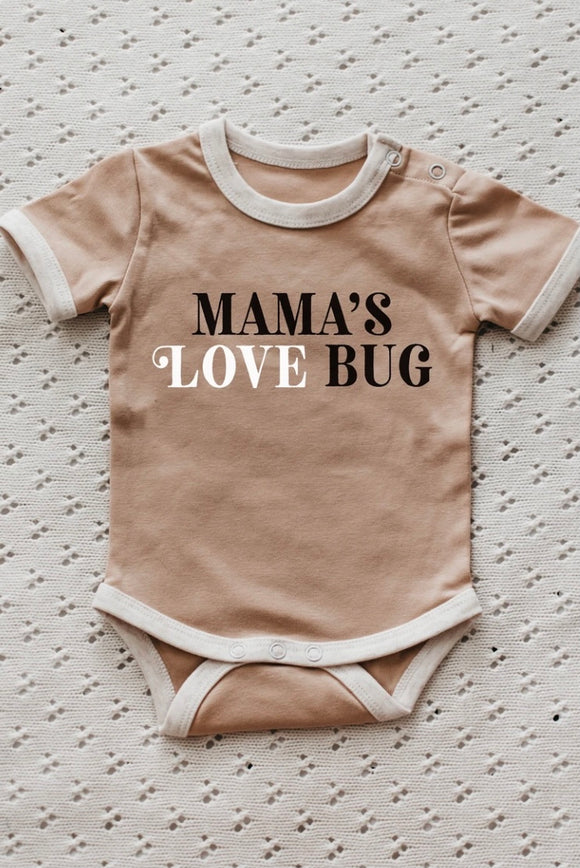 MAMA's Love Bug Romper / Tee Peach