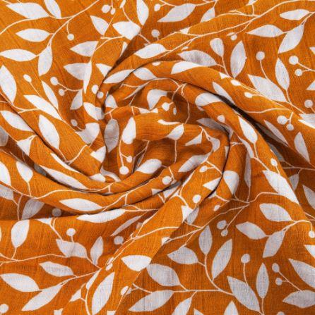 Muslin Wrap - Sunflower Leaves