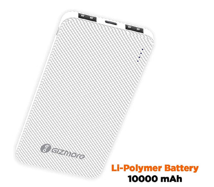 Gizmore Power Bank 10000mAh (Li-Poly) GIZ PB10KP3 - E MIRA ROAD