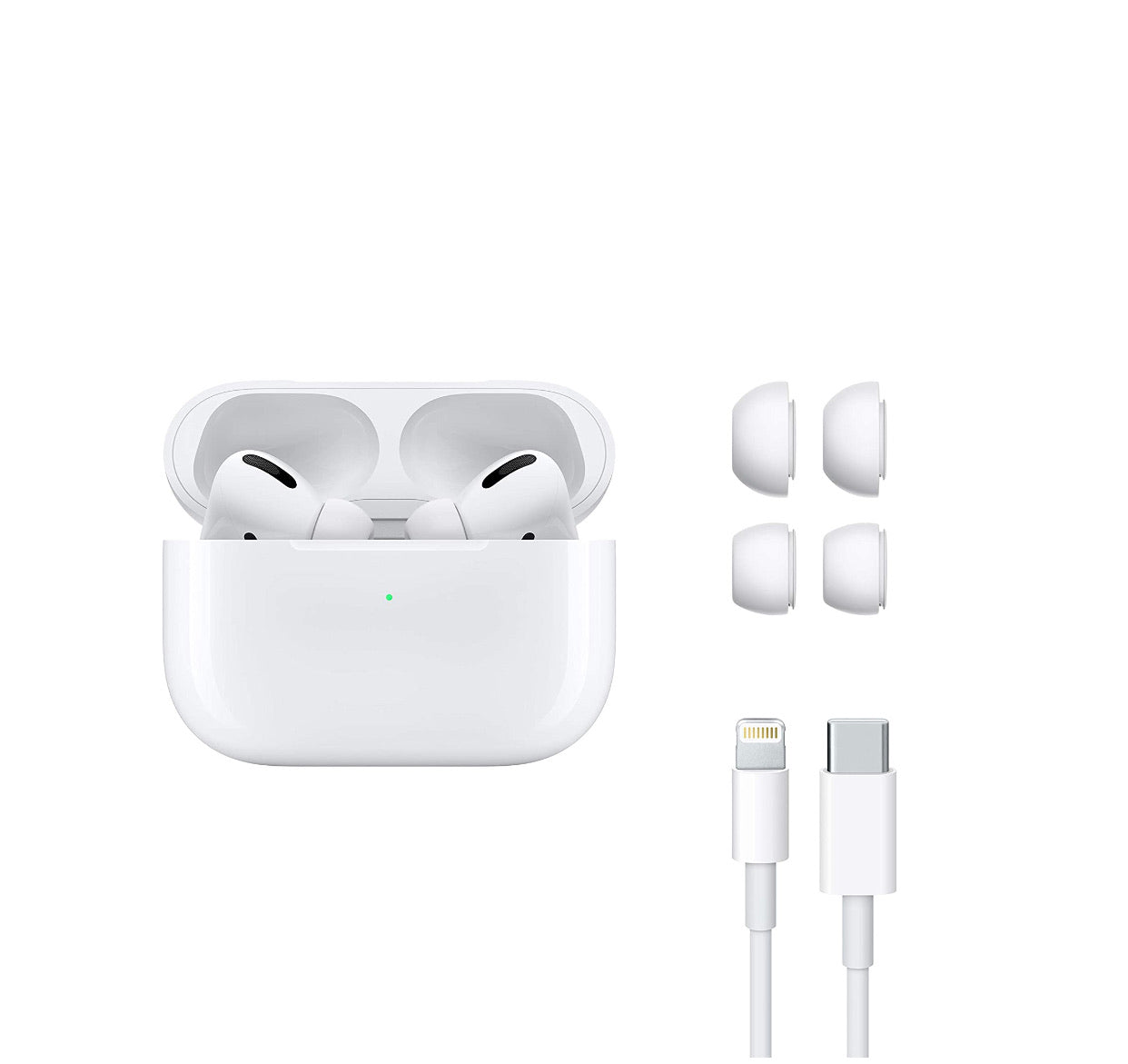 Apple Wireless AirPods Pro MWP22HN/A with Wireless Charging Case,White - E MIRA ROAD