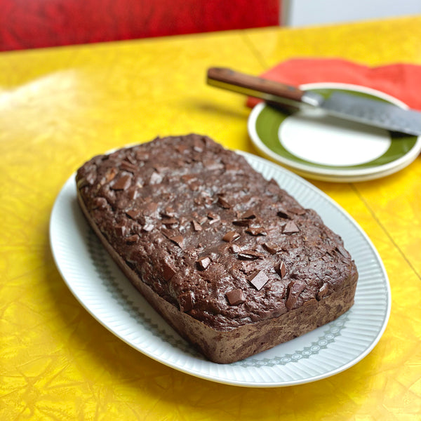 Chocolate Banana bread with sunflower seed butter