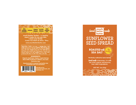 Front & Back of the 1 oz Roasted with Sea Salt sunflower spread grab-n-go