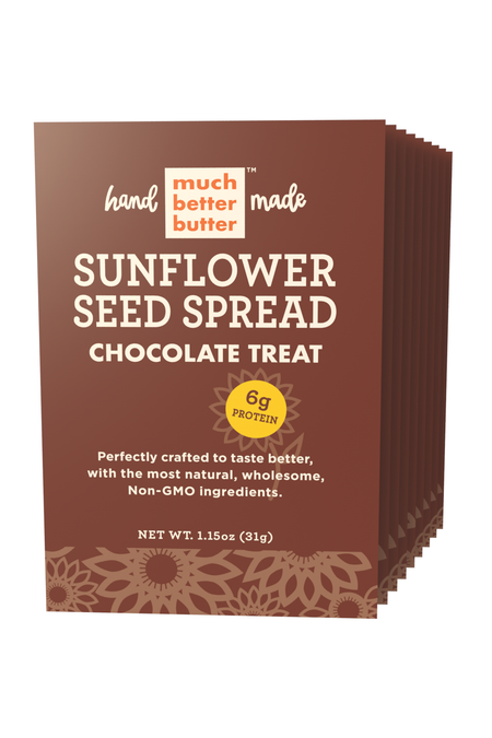 Front of the 1 oz Chocolate Treat sunflower spread grab-n-go