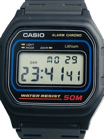 Casio Mens Digital Watch Alarm Chrono 50M  W59-1V