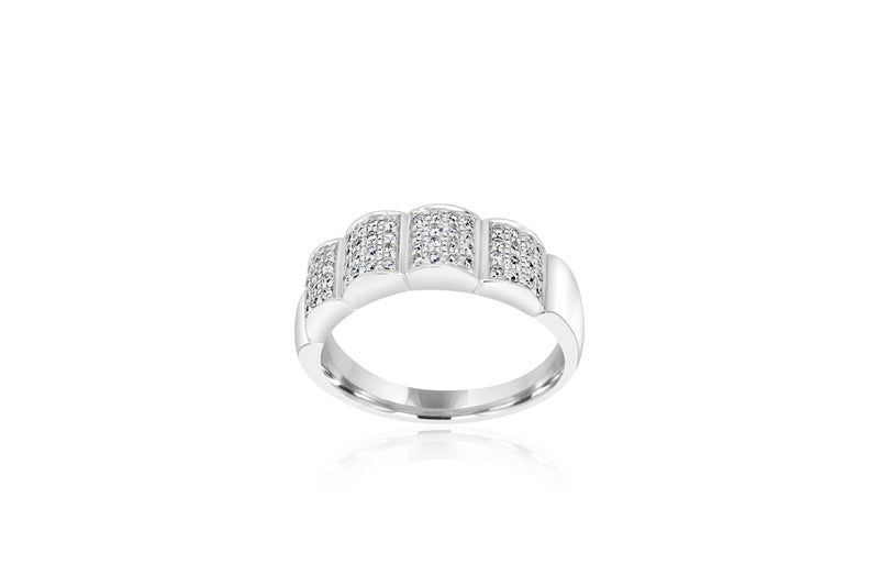 18k White Gold Multi-stone Diamond Ring