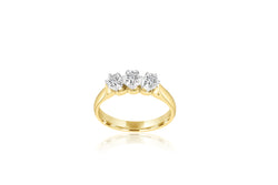 9k 2-tone 3-stone Diamond Ring