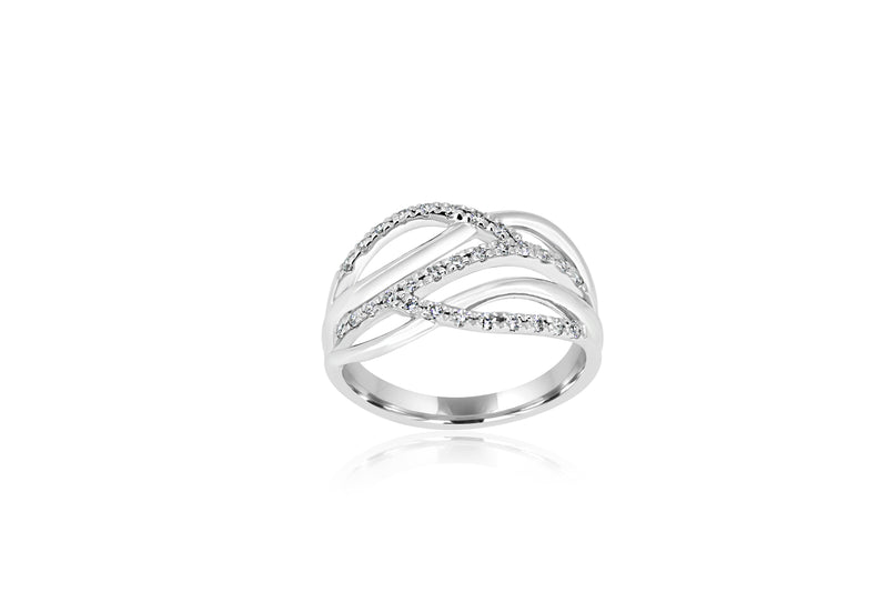 9k White Gold Diamond Ring