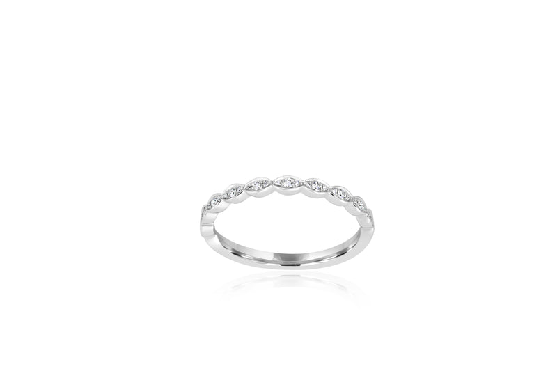 18k White Gold Diamond Ring / Matching Wedder