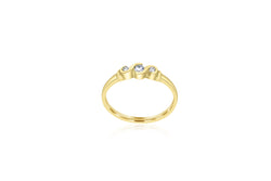 9k Yellow Gold Scalloped Setting Diamond Ring