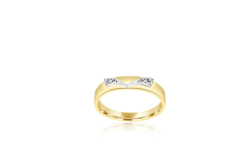 9k Yellow Gold & White Gold 2-tone Eternity Diamond ring