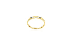 18k Yellow Gold X-over Channel Set Diamond Ring