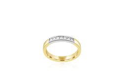 14ct Yellow Gold 7-Stone Diamond Ring
