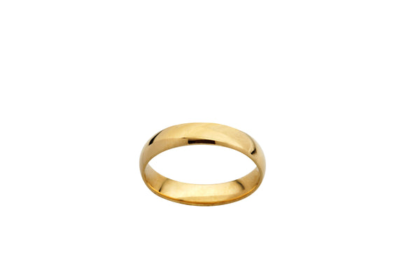9k Yellow Gold Gents Wedder Size S