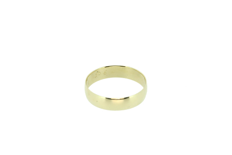9k Yellow Gold Gents Wedder Size V