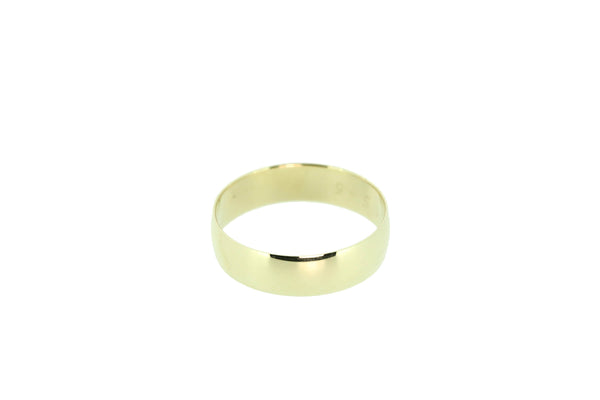 9k Yellow Gold Gents Wedder Size Y