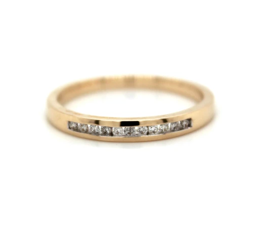 9K Yellow Gold Wedder Diamond Ring