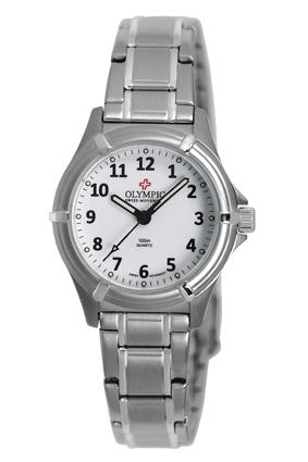 Olympic Ladies Watch Steel White 12 Fig B/let 100m Swiss Movt
